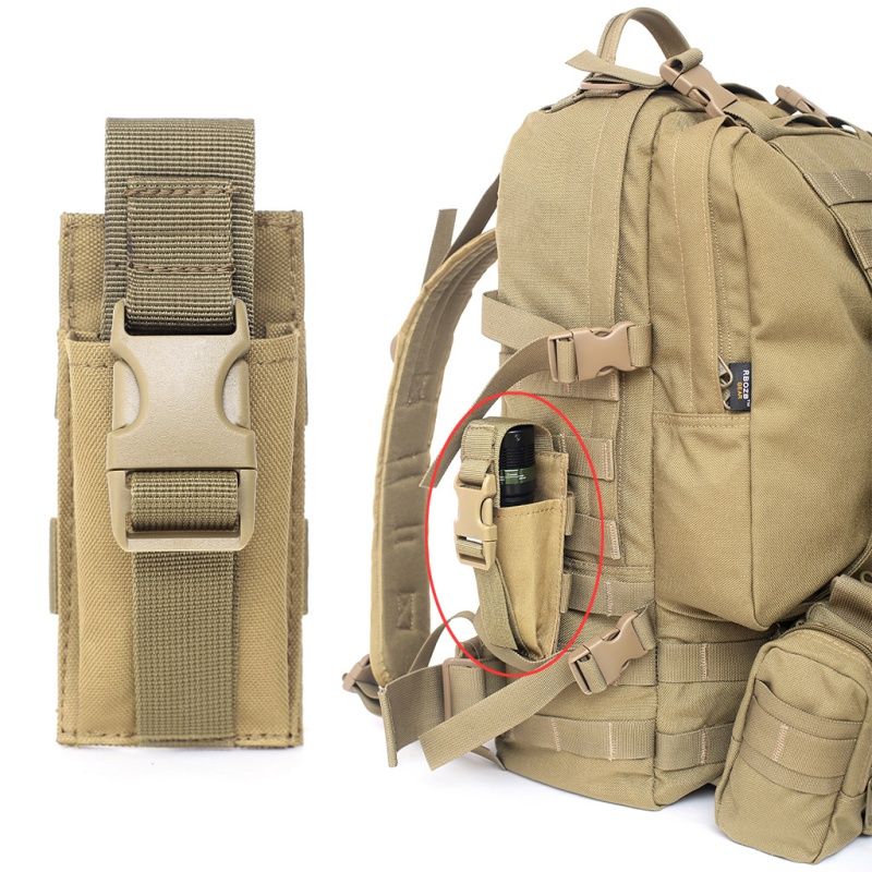 Tactical Single Pistol Magazine Pouch Military Molle Pouch Knife Flashlight Sheath Airsoft Hunting Ammo Camo Bag