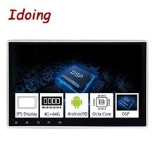"""Idoing 1Din 10.2 """"PX5 4G + 64G Android 9.0 8Core Voor Universele Auto Gps Dsp Radio speler Ips Screen Navigatie Multimedia Bluetooth"""