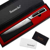 SUNNECKO 8 inch Slicing Knife Damascus Steel Kitchen Knives Japanese VG10 Core Blade G10 Handle Sharp Meat Cutter Chef's Knife