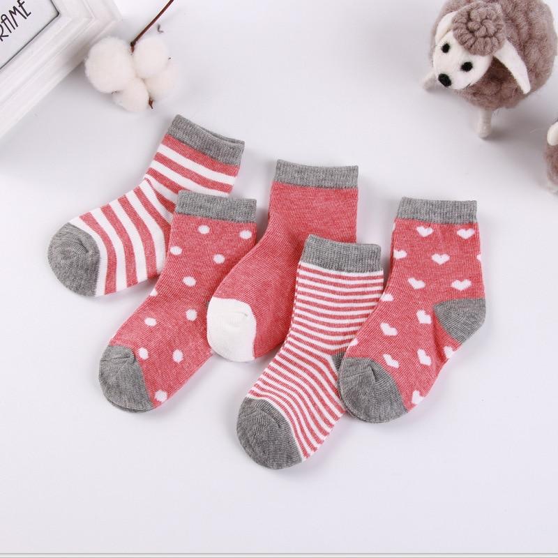 5 пара/лот детские мягкие хлопковые носки для девочек комплект одежды для маленьких мальчиков и девочек, стильная футболка с изображением п...