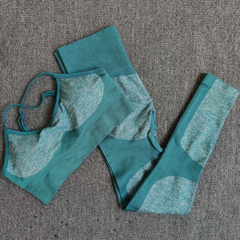Green -11 colors seamless yoga suit