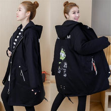 Pregnant Women's Cotton Coat Long Winter Clothes Korean Large Size Loose Thick Padded Jacke