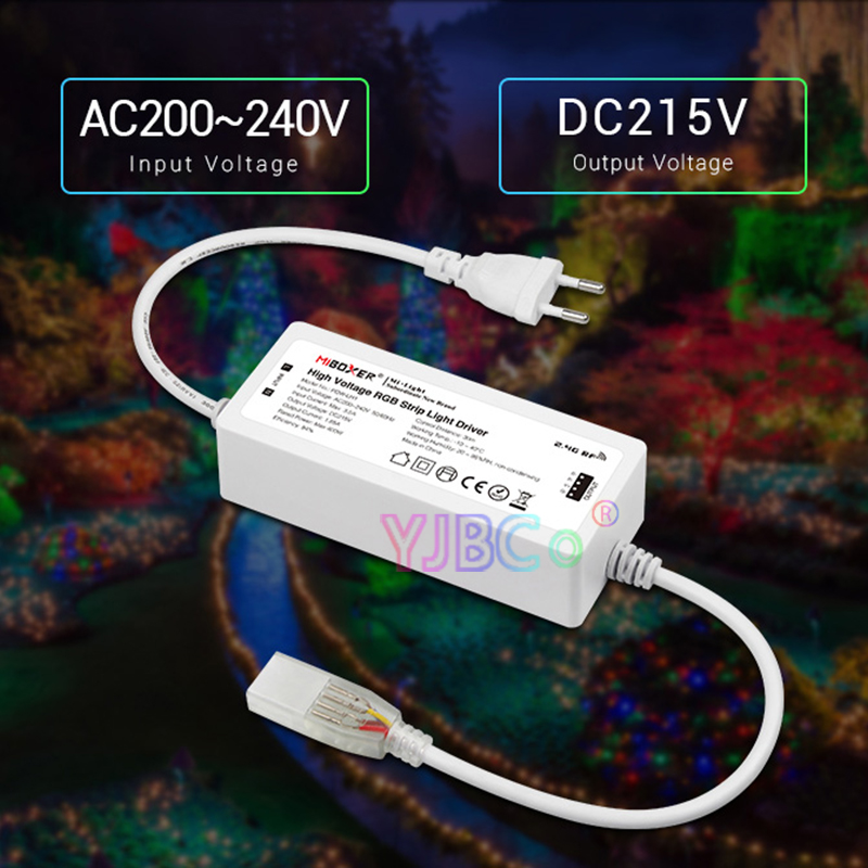 Miboxer POW-LH1 High Voltage RGB Led Controller AC200-240V WiFi APP Smart RGB led strip controller 400W driving 50m led strip