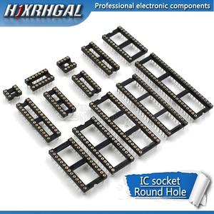 1PCS Round Hole IC socket Connector DIP 6 8 14 16 18 20 24 28 40 pin Sockets DIP6 DIP8 DIP14 DIP16 DIP18 DIP20 DIP28 hjxrhgal