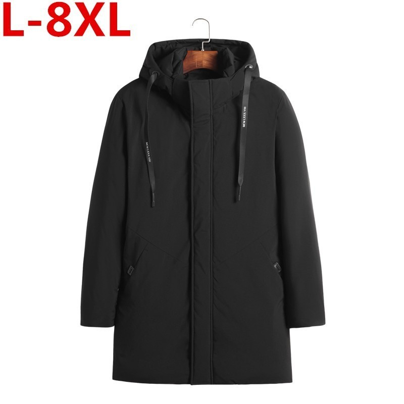 Plus Size 8XL High Quality Parka Men Winter Long Jacket Men Thick Cotton-Padded Jacket Mens Parka Coat Male Fashion Casual Coats