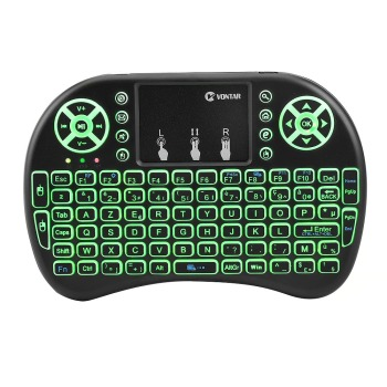 Portable Backlit i8 Mini Air Mouse 2.4G Wireless Keyboard  Touchpad English Russian Spanish French Remote Control for Android