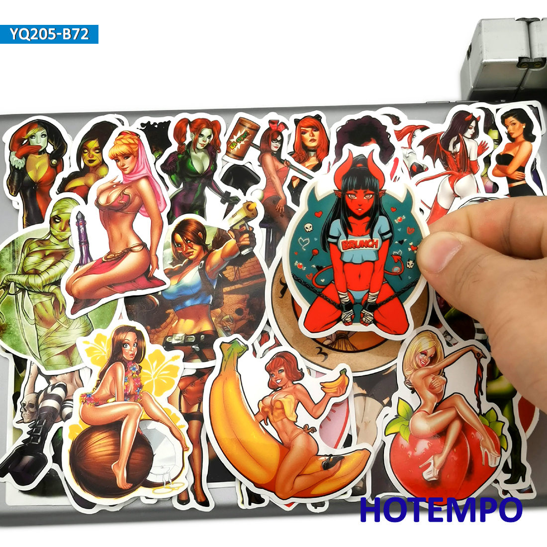 Angel She Devil Girl Decal Car Window Vinyl Decal Sticker laptop phone
