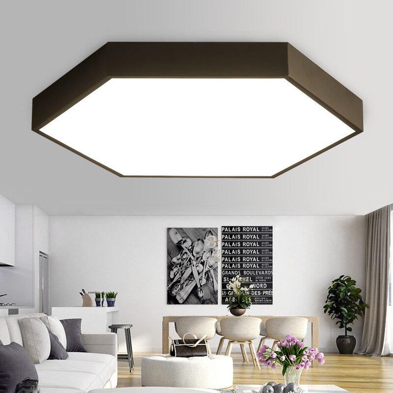LED Ceiling Lamp Office Bedroom Living Room Modern Creative Geometry Simple Macarons Ceiling Lamp Wholesale