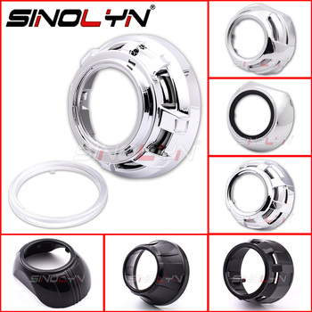 Sinolyn 2.5/3.0 Headlight Lens Dust Bezel Shrouds For LED HID Projector Lens For WST/Hella 3R G5/Koito Q5 Bezels Car Accessories image