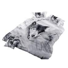 3 Pc Bedclothes Bedding Cover Set Pillowcase Duvet Cover Sets Bed 3d Wolf Cover Set Couples Bedding Covers No Bed Sheet @118(China)