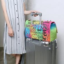 2019 new womens bags female luxury handbags women caviar graffiti Super large travel designer high quality  shoulder bag