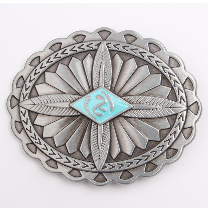 Indian Indigenous Tribal  Belt Buckle Belt DIY Accessories Western Cowboy Style Smooth Belt Buckle  Punk Rock Style K9