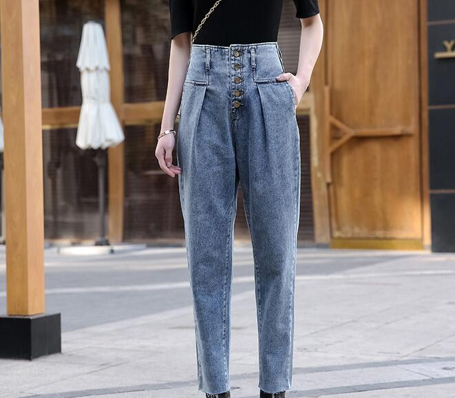 2020 Spring Women's Jeans Casual Loose Jeans Women High Waist Jeans  KS083-01-15