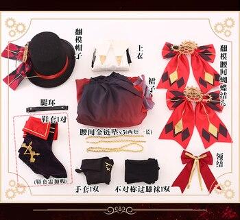 DATE A LIVE Tokisaki Kurumi Time Magician Cosplay Costume Halloween Outfits Woman Party Dress 2