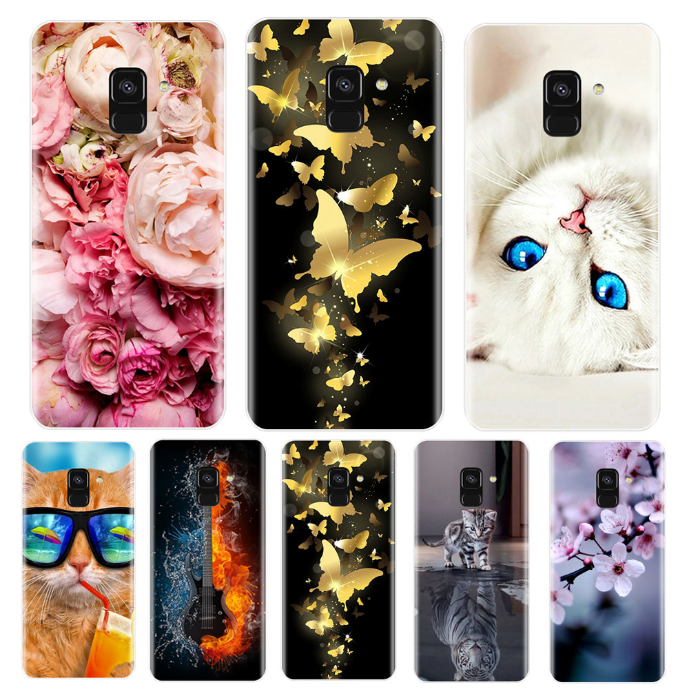 Phone <font><b>Case</b></font> For <font><b>Samsung</b></font> Galaxy A3 A5 A7 2016 <font><b>2017</b></font> Soft Silicone TPU Cute Cat Painted Back Cover For <font><b>Samsung</b></font> <font><b>A6</b></font> A8 Plus 2018 <font><b>Case</b></font> image