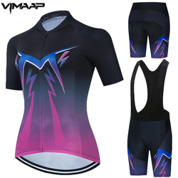 Women Pro Women Cycling Jerseys Sets MTB Bike Cycling Clothing Breathable Mountian Bicycle Clothes Summer Bike uniform Wear