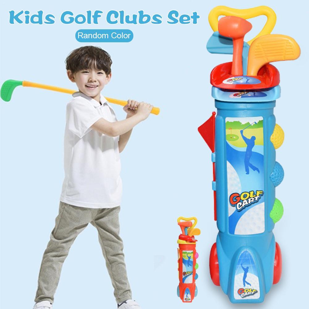 Children Kids Outdoor Sports Games Toys Multicolor Plastic Mini Golf Club Set Children's Gift Toy Golf Training Tool
