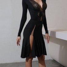 Fringe-Skirt Tassel-Dress Practice-Wear Latin-Dance Zymdancestyle Professional Show Black