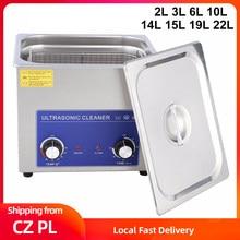 2/3/6/10/14/15/19/22L Ultrasonic Cleaner Jewelry Glasses Ultrasound Cleaning Machine Heated Timming Ultra Sonic Cleaner EU Plug
