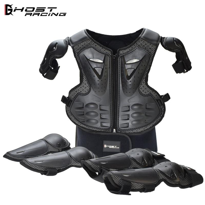 Enfants complet corps protéger armure enfants garçons filles Motocross hors route vtt MX armure veste gilet poitrine colonne vertébrale Protection Gear