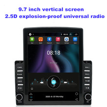 9.7 pouces 2Din Android 9.1 voiture écran Vertical Radio 2.5D universel 2GB + 32GB voiture lecteur DVD GPS RDS Radio WIFI universel MP5
