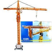 1/50 Tower Crane Site facility Engineering Building Truck Model Collection Metal Art Traffic Toys Scenario simulation children