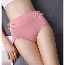 5pcs/Lot Solid Color Shapers High Waist Women Panties Swan Animal Print Women Underwear Lady Cotton Briefs