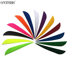 50pcs/lots 4 Water Drop Shape Hunting Arrow Feathers 12 Color Turkey Feather Archery Accessories Fletching FT45