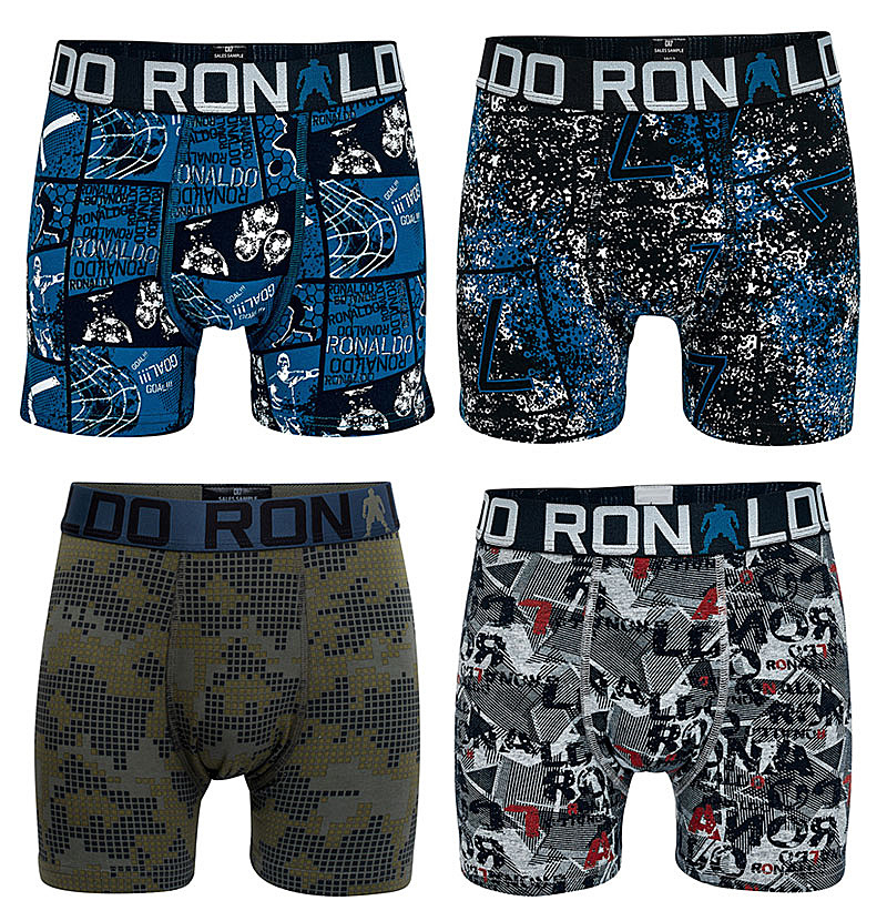 20 Pieces Boys Multipack Boxers Kids Super Football Star Print Trunks Teenage Underwear Student Cotton Pants Child Shorts 4-15Y