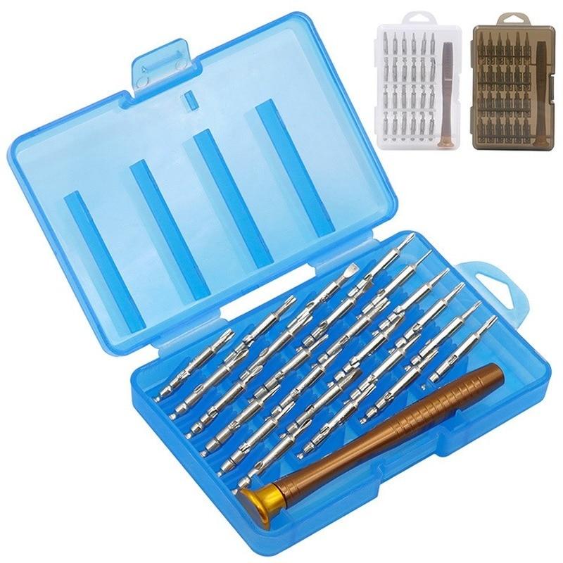 25 In 1 Multi-Function Manual Mini Screw Driver Set Mobile Phone Laptop Repair Tools Iphone 7/8/X Pen Screwdriver Bit Set Kit