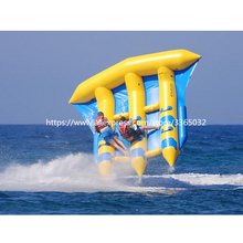High quality 0.9mmPVC inflatable flying towables fish
