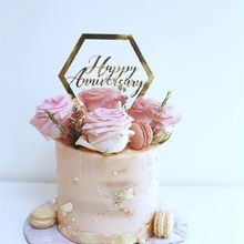 Feliz aniversário tema festa de bolo toppers ouro casamento aniversário bolo topper para casamento aniversário festa de bolo decorações
