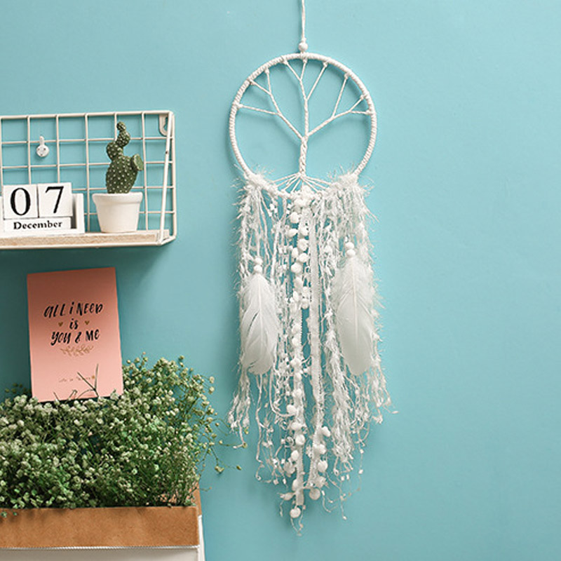 Room Decoration Beautiful Tree of Life Dream Catcher Weave ловец снов with feathers for Hanging home wall decorations Ornament