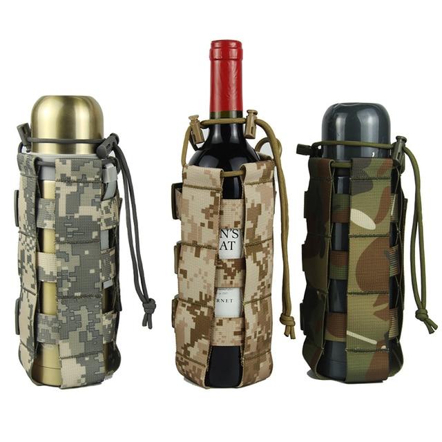 調節可能な戦術やかんバッグ屋外迷彩水カップカバー多機能戦術的なバッグポータブル水ボトルカバー