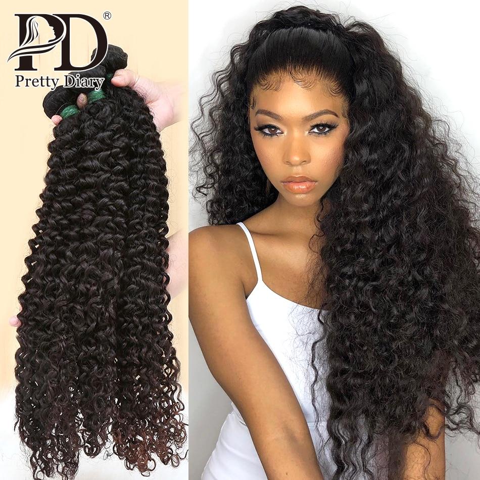 Mongolian Hair Weave Bundles Kinky Curly 100% Human Hair 28 30 Inch Single 3/4 Bundles Natural Color Remy Hair Curly Bundles