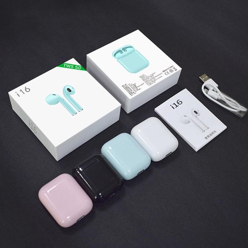 i16 TWS mini Bluetooth 5.0 Earphone i20 Wireless headset sport headphones 3D Stereo HIFI sound Earbud with mic PK i12 for phones
