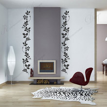 4pcs/set Floral And Leaves Wall Stickers Modern Home Decor Living Room Bedroom Decals Interior Design Furniture Door Murals 3A73 furniture for interior design