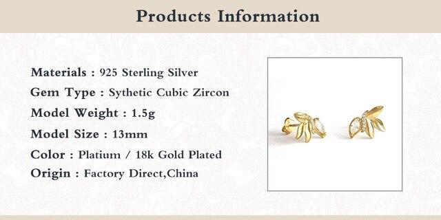 Romad серьги гвоздики 925 стерлингового серебра милые мини маслина
