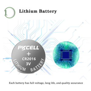 Image 2 - 10Pcs 2Pack PKCELL CR2016 CR 2016 Battery 3V DL2016 KCR2016 LM2016 BR2016 EE6277 Lithium Button Coin Cell Bateria Batteries