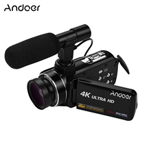 Andoer 4K Ultra HD Handheld DV 3.0inch IPS Digital Video Camera CMOS Sensor Camcorder with 0.45X Wide Angle Lens with Microphone