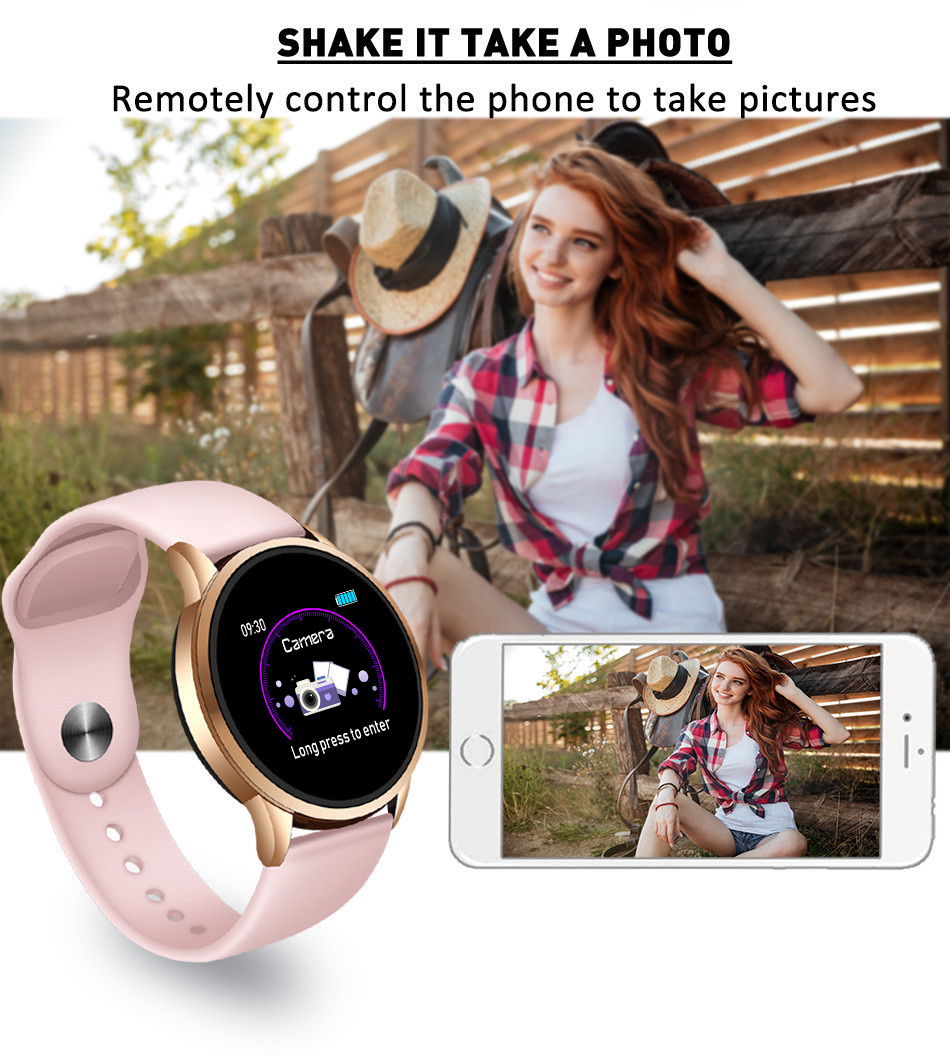 LIGE Luxury Smart Watch Women Sport Watch Waterproof Fitness Tracker Heart Rate Blood Pressure Monitor Pedometer for Android ios
