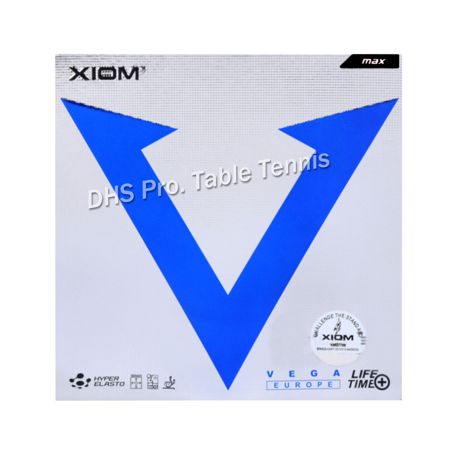 XIOM Original VEGA Europe  Table Tennis Rubber Ping Pong Sponge Tenis De Mesa