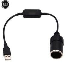 Розетка для автомобильного прикуривателя USB 5 В в 12 В, адаптер-конвертер, проводной контроллер, разъем-адаптер, аксессуары для интерьера авто...