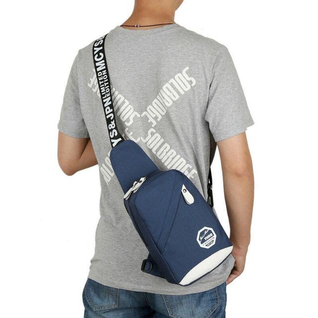 5 Colors Unisex Chest Bag Men Women Waterproof Handbag Zipper Durable Shoulder Casual Fashion Travel Sports Bag 2