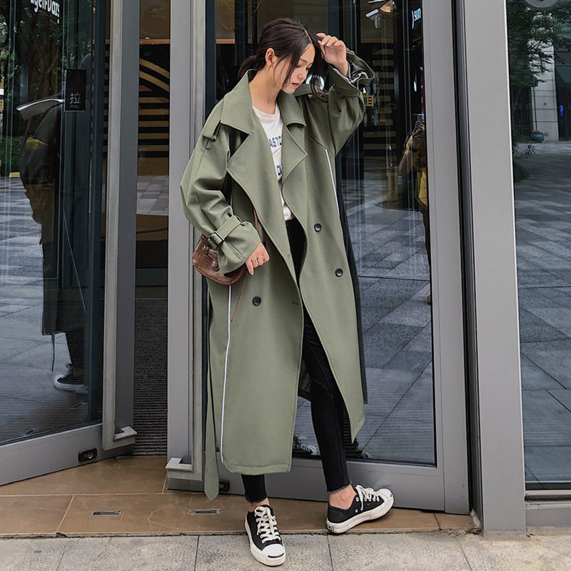 TVVOVVIN Fashion Windbreaker Female Korean Style Cotton Wild Casual   Trench   Coat For Women Autumn 2019 New Women Clothing C921