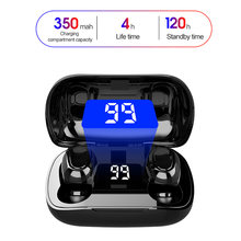 Наушники вкладыши tws bluetooth 50 наушники светодиодный Дисплей