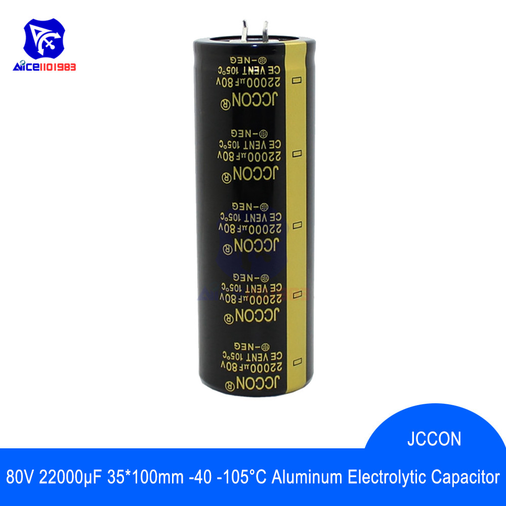 Aluminum Electrolytic Capacitor 80V 22000μF 35x100mm High Frequency Low ESR 80V22000μF 35*100mm 2 Pin Capacitor