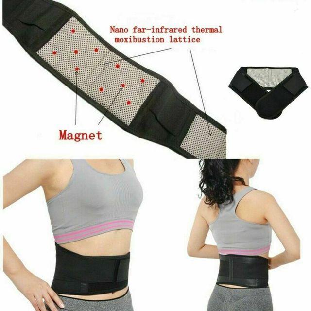 Taille réglable Tourmaline thérapie magnétique ceinture de soutien de taille arrière orthèse lombaire bande de Massage soins de santé