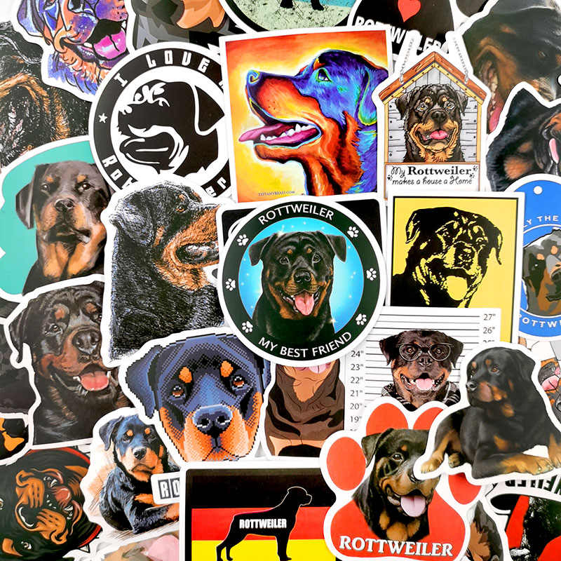 Rottweiler Stickers Cute Animal Dog Stickers For Kids and Teens 50Pcs Variety Vinyl Waterproof Car Sticker Motorcycle Bicycle Luggage Decal Graffiti Skateboard Stickers for Laptop Stickers rottweiler
