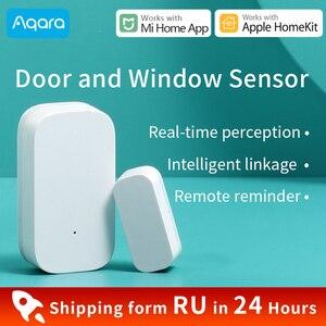 Image 1 - Aqara Door and Window Sensor for Xiaomi Smart Home Mini door Sensor Zigbee connect Mijia Gateway 3 Work for HomeKit Mi Home App